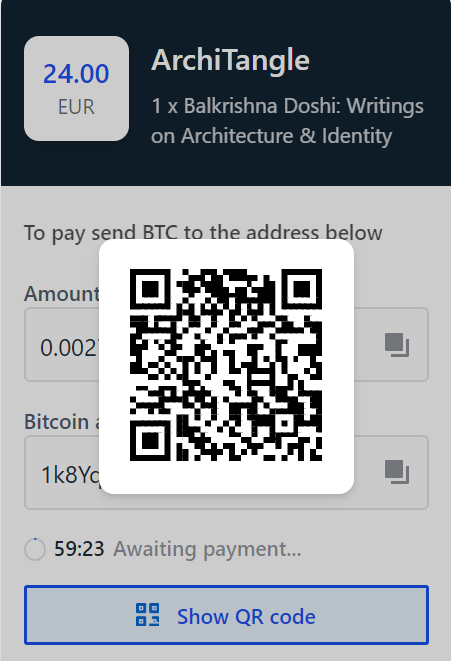 Crypto payment on architangle.com